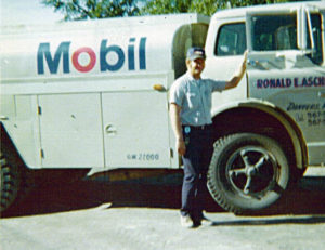 Ron and old Mobil truck